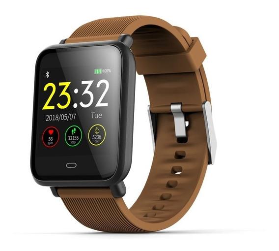Q9 1.3 Pulgadas Inteligente Reloj Impermeable -marrón