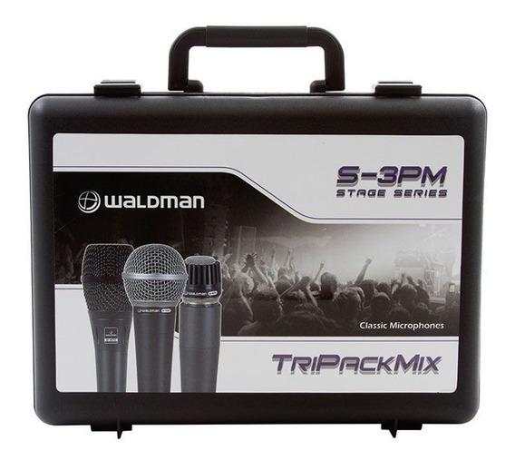 Microfone Com Fio Kit 3 Peças S 3pm Waldman