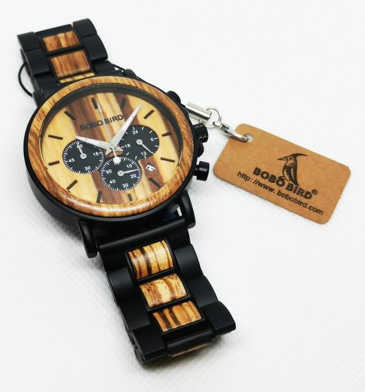 Reloj De Madera Bobo Bird J-q26 Totalmente Nuevo