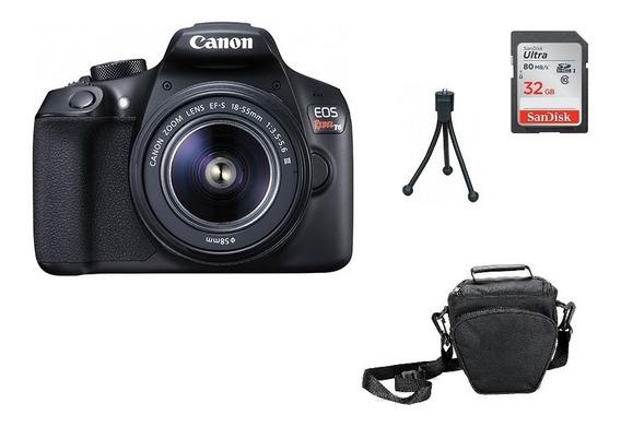 Kit Câmera Canon T6 - 18-55mm Brindes Garantia Sem Juros