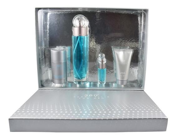 Set 360 4 Pzs 100 Ml Edt + Shower Gel 75 Ml +desodorant 75g