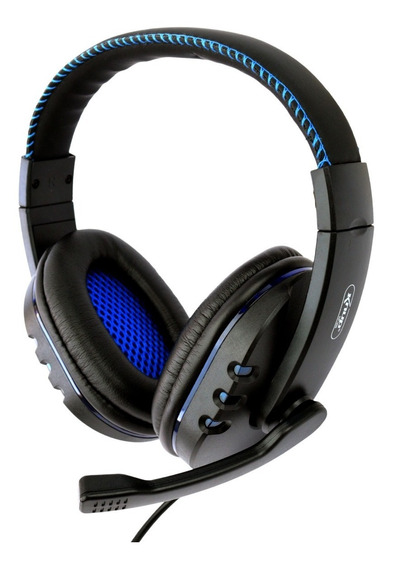 Headset Gamer Fone De Ouvido Usb Led Ps3 Ps4 Pc Azul