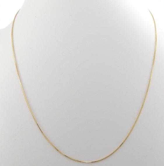 Colar Feminino Corrrente Veneziana 45 Cm Ouro 18k 750 Cordão