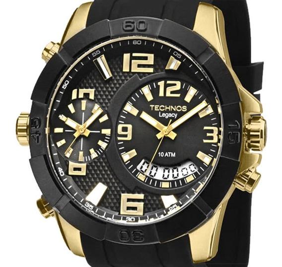 Relógio Technos Masculino Dourado Legacy T205fj/8p + Nf