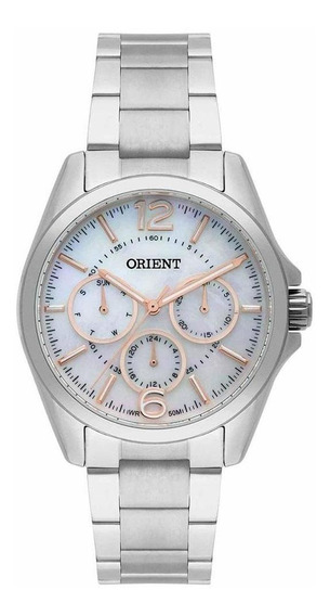 Relógio Feminino Orient Prateado Madrepérola Fbssm032 B2sx