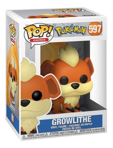 Boneco Funko Pop Games Pokémon Growlithe - #597