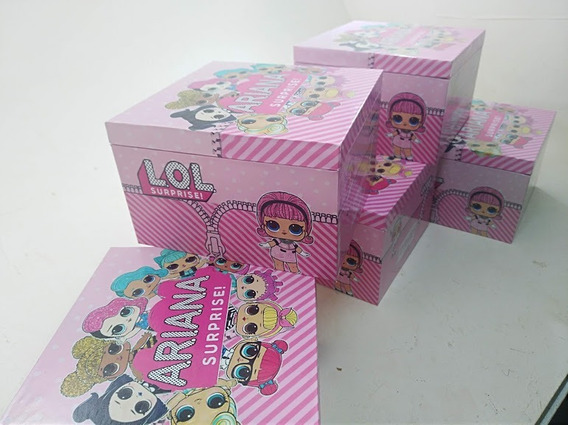 Cajas De Madera Premium Sorpresitas Infantiles 55.