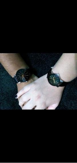 Relógio De Casal Luxo