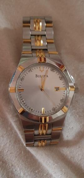 Relógio Bulova Com Diamantes No Mostrador