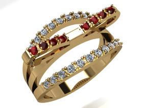 Anel Ouro Feminino Anel Laço Diamantes Pronta Entrega