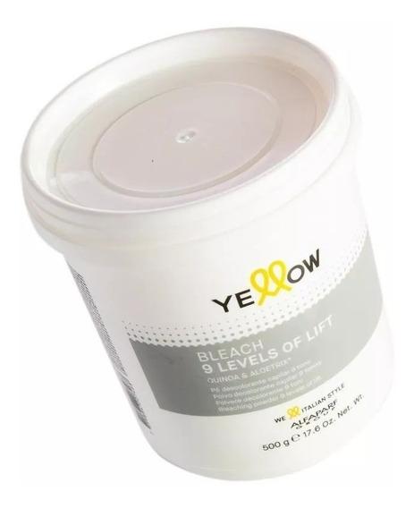Polvo Decolorante Yellow By Alfaparf ¡aclara Hasta 9 Tonos!