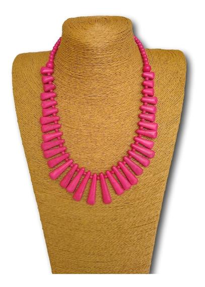 Maxi Colar De Pedra Houlita Pink Ref: Ref: 7090