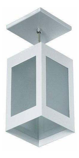 Luminária Pendente Teto Beiral Viga Colonial 4 Vidros