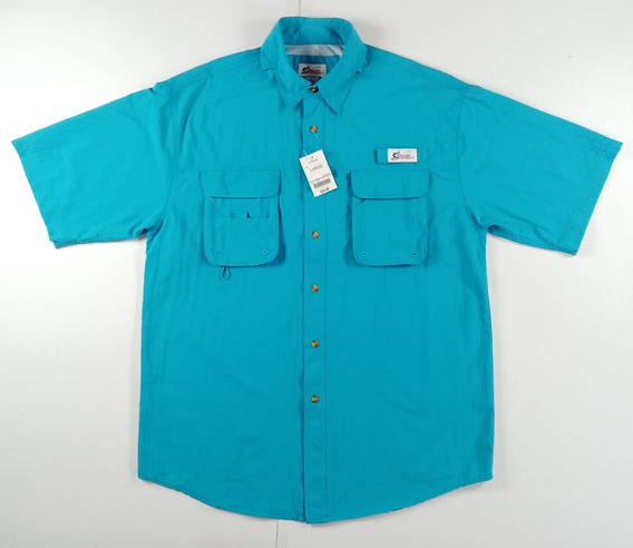 Camisa De Pesca World Wide Sports Man Manga Corta, Talla L
