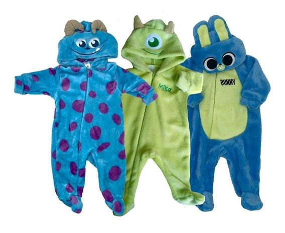 Kit 3 Mamelucos Disney Sulley, Mike, Bunny A Precio De 2