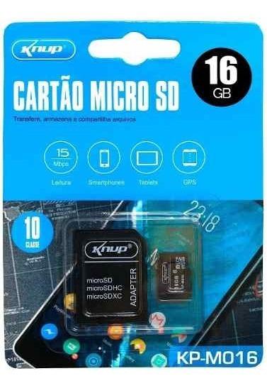 Cartão De Memória Micro Sd 16gb Câmera Tablet Lacrado M16
