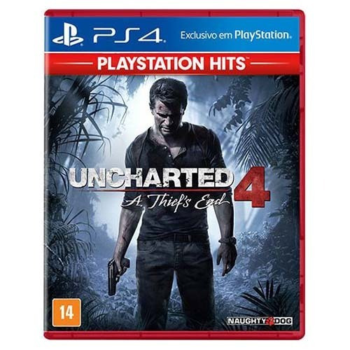 Uncharted 4 Thiefs End Ps4 Hits - Mídia Física Lacrado