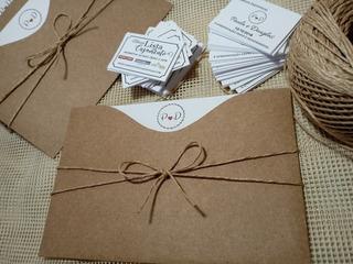 110 Convites De Casamento Polly Rústico - 18 X 12 Cm
