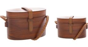 Bolsa Lully Box Bag Wood Shultz Madeira Original Promoção