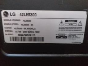 Tv Lg 42 Le5300 Usada ,tela Não Funciona, Ligar E Tem Som
