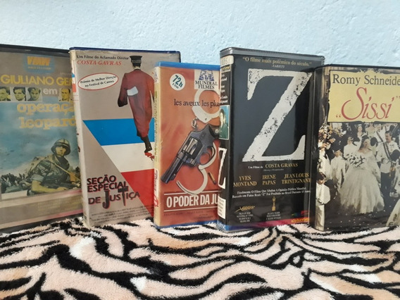 Lote 5 Filmes Vhs Italiano Franceses