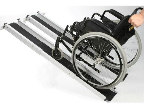 Rampa Extensible De Aluminio Para Sillas De Ruedas (152 Cm)