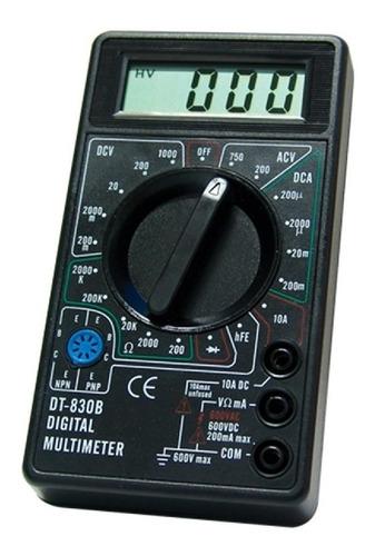 Imagem 1 de 1 de Multimetro Digital Medidor Voltagem Eda  Dt830b