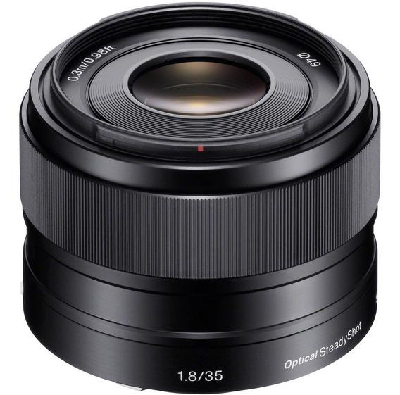 Lente Profissional Sony E 35mm F/1.8 Oss Sel35f18