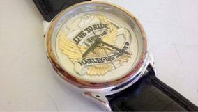 Relógio Harley Davidson Ouro Original, Live To Ride, Raro