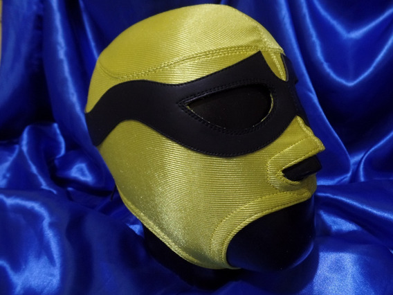 Máscara Lucha Libre El Solitario Profesional Licra Y Piel