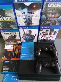 Playstation 4 Ps4 500gb 2 Controle + Jogo Na Caixa Barato!