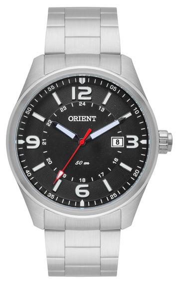 Relógio Orient Original, Masculino, Prateado, Mbss1259 Pesx