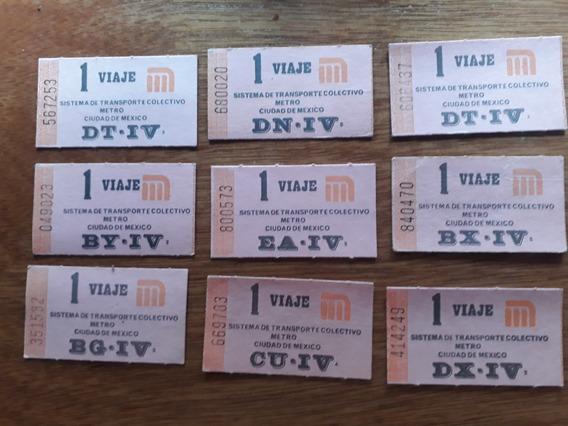 Boletos Del Metro Ciudad De México Años 90 Oferta !!