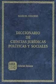 Diccionario De Ciencias Juridicas Ossorio Nuevo Original