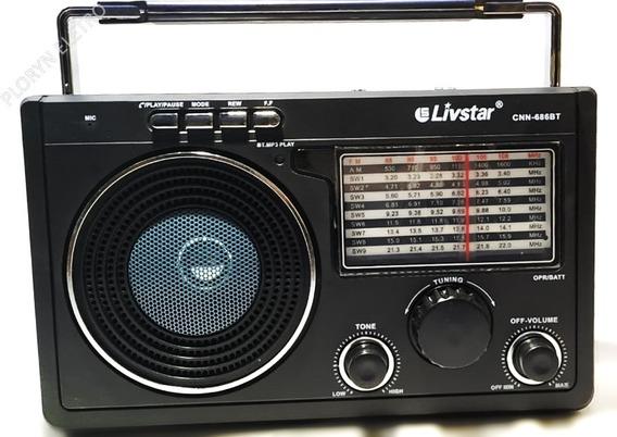 3 Rádio Bluet Am Fm Usb Sd Bivolt Entrada Fone De Ouvido