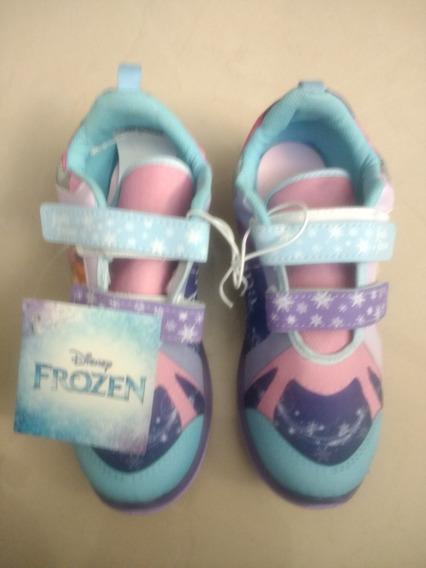 Tenis De Luces Para Niña Diseño Frozen Talla 21