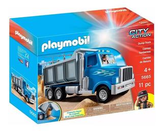 Playmobil 5665 City Action Camion Arenero Volcador Personaje