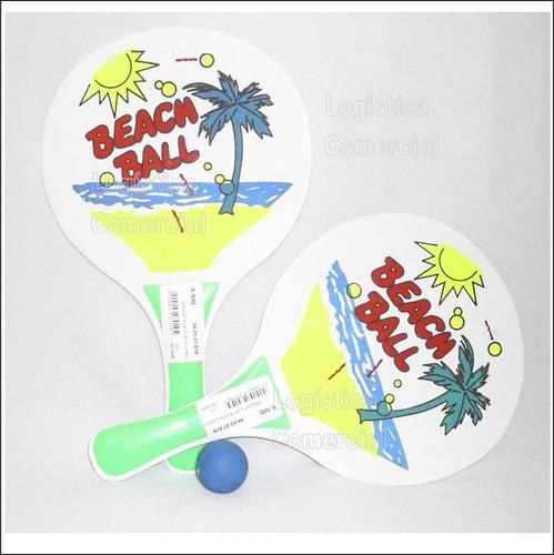 Imagen 1 de 10 de  Raqueta De Playa Beach Ball Sol Y Arena Pelota