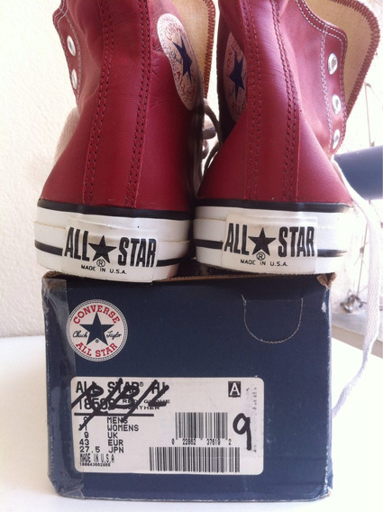 Allstar Converse Made In Usa Leather Us9 Sem Uso Raridade