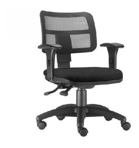 Cadeira Executiva Encosto Tela Zip Frizokar C/ Braço