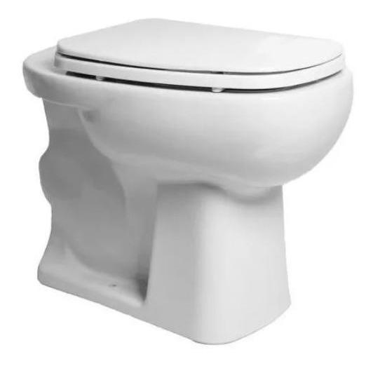 Vaso Convencional Louça Mônaco Quadrada Luxo Branca
