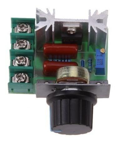 Regulador Controlador Dimer Dimmer Iluminação Motor 2000w