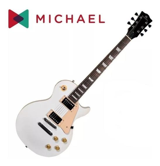 Guitarra Les Paul Michael Gm730n White Vintage Showroom