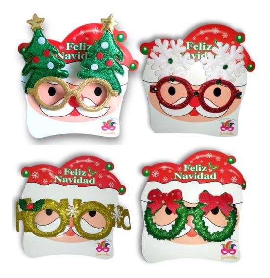 Lentes Navideños Posada Fiesta Navidad Decoracion 12 Pz Gafa