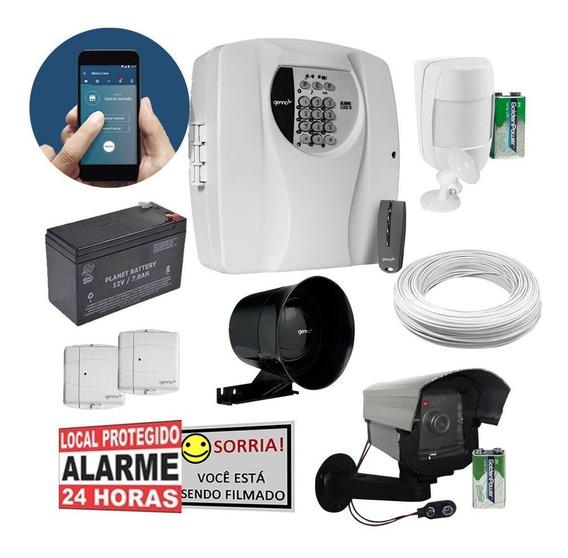 Kit Alarme Genno Cloud 10 Wifi App Casa Pequena + Prog