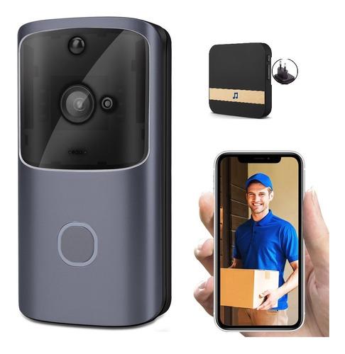 Imagem 1 de 10 de Vídeo/porteiro-campainha Vídeo/áudio Wifi+caixinha Sem Fios
