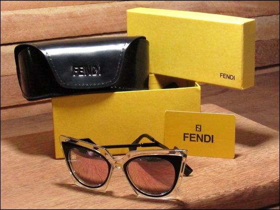 Óculos De Sol Fendi Orchidea Unisexx Já No Brasil °1018°