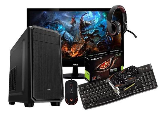 Pc Gamer Completo, Gtx1060 6gb, 12gb Ram, Tela 24 + Outros
