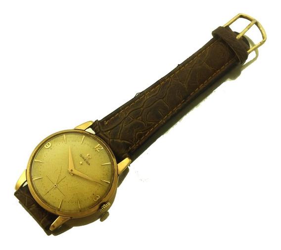 Relogio De Pulso Masculino Omega Caixa Em Ouro 18k Mostrador Original Calibre 267 Ano 1956 17 Rubis Ferradura J19995