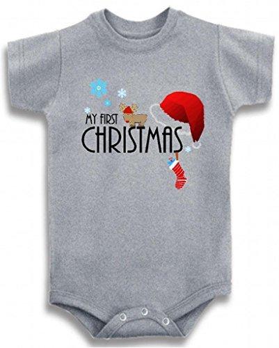 Camiseta De Bebe Con Cuello Redondo Gris Time Boys X26 39 M